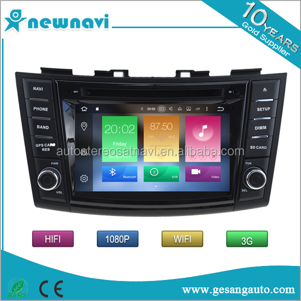 Octa Core Auto android 6.0 car radio double din car gps navigation for Suzuki Swift 2011-2015 with 2g ram 32g rom car dvd player