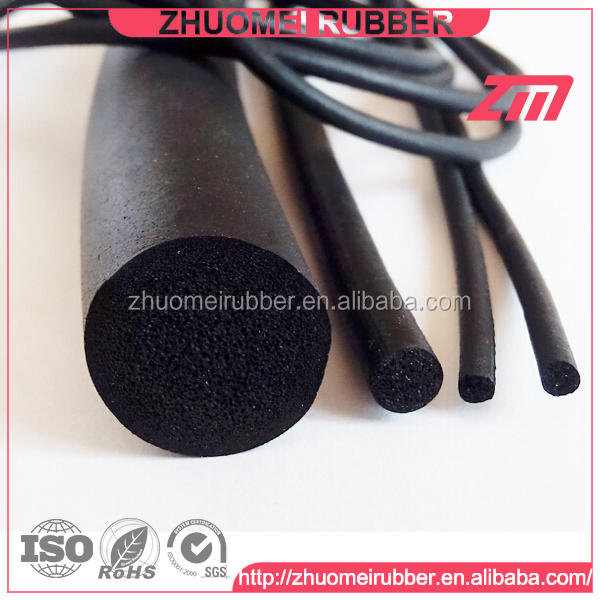 sponge and solid rubber rope for sealing system