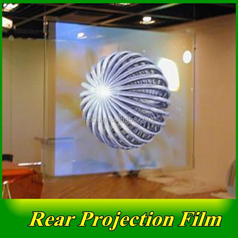 front and Rear Projection Screen Film/ hot sale window display rear transparent hologram projector screen for 3D film