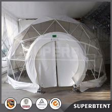 aluminum alloy round event ball transparent all weather large frame geodesic dome tent with doors for banquet party sale