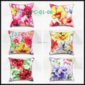 New Style Decorative, Sofa Car Flower Retro Linen Cushion Cotton Custom Digital Print cushion Cover Throw Pillow Case