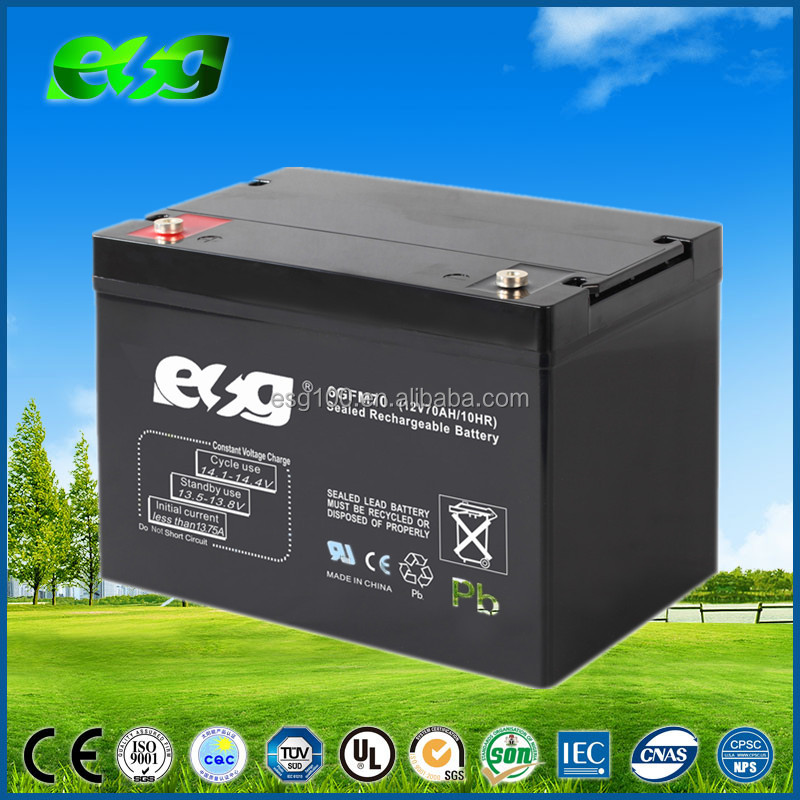 Rechargeable Battery 12V70AH AGM Sealed Lead Acid Battery