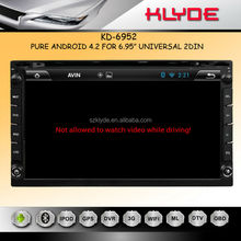 "ANDROID 4.2.2 GPS TV BT Ipod Radio Steering Wheel Control 7"" 2 din in-dash car dvd gps android with wifi 3g"