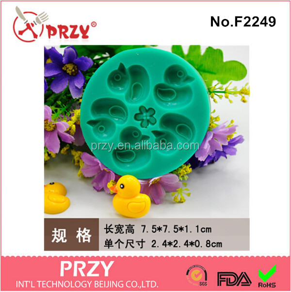 F2249 Hot sale duck shape mafen cup silicone cake mold for cake decorating