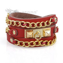 Fashion Leather Bracelets Italian Leather Bracelets Cowhide Material Nickel & Lead Free Hot Items