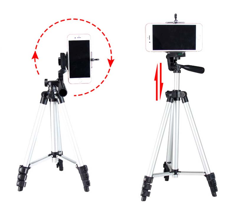 Portable Extendable Tripod Stand Projector Holder Support Phone Camera DV silver 35cm 2