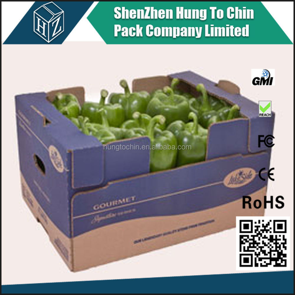 Cheap price recycled transport single&double wall printing boxes for vegetables