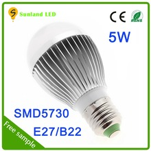 high power LED E14 E17 E26 E27 5W a60 led bulb with CE ROHS passed