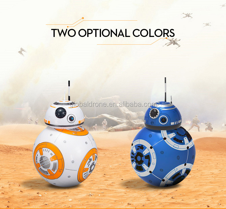RC Upgrade Droid With Sound Planet Boy BB-8 Ball Remote Control BB 8 Intelligent Robot Action Figure Toys For Children Model
