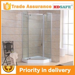 aluminum frame 8mm tempered glass door pivot hinge, shower enclosure with CE certificaiton