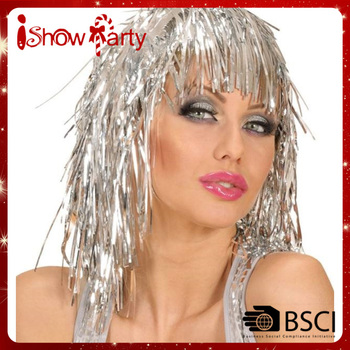 Hot Cheap Wholesale Carnvial Party Long or Short Hair Tinsel