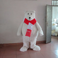 Cute white bear costume/adult bear costume/polar bear mascot costume