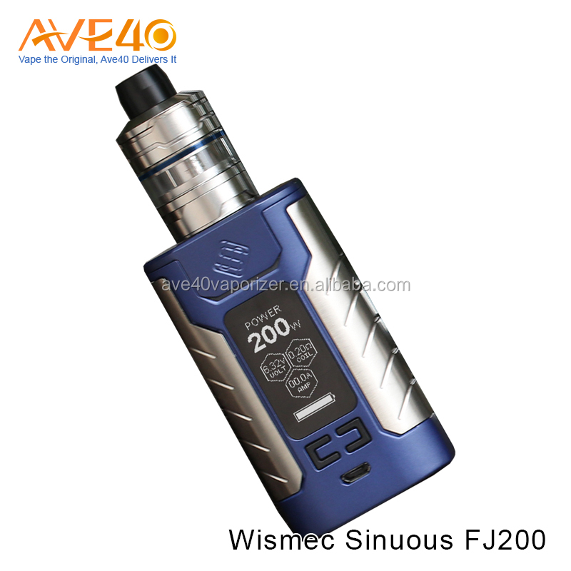2017 Trending Hot Products Wismec Sinuous FJ 200 Kit with Divider Tank 200W