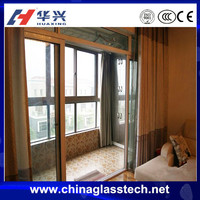 CE certificate 98% moisture proof rate no distortion upvc profile insulated glass/temp sliding weather stripping exterior door