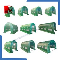 china pe tarpaulin factory,Polytunnel Galvanised Frame 6m x 3m Greenhouse Pollytunnel Poly Tunnel 6 Section