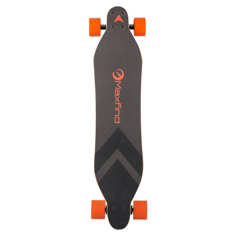 MaxFind 4 wheels fast electric skateboard 28KM/H dual motors 360Watt boosted