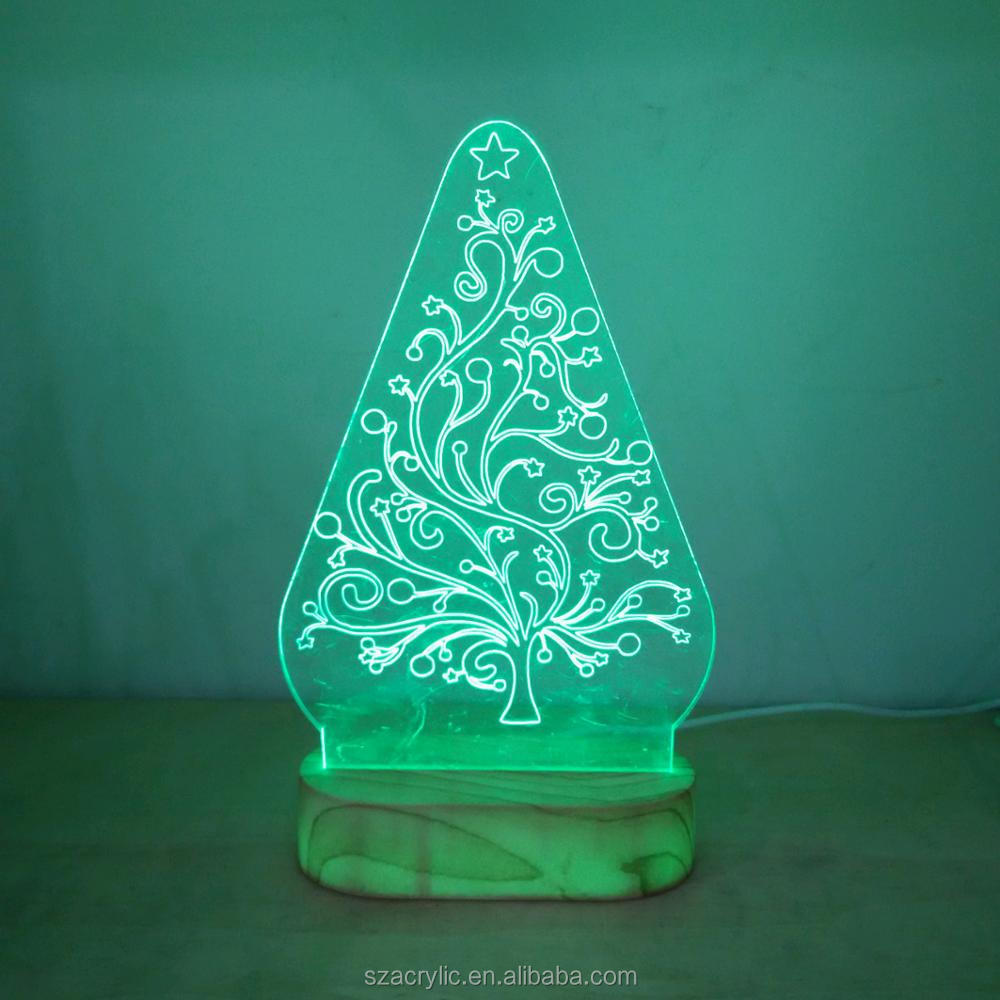 Acrylic Christmas tree 3D LED light acrylic Christmas decoration Christmas tree 3d light display