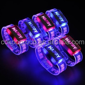 2015 Shenzhen Sunjet party motion led lights bracelet/light bracelet