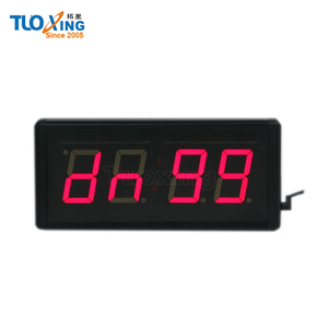 2.3 inch 4 digit indoor wall led countdown timer