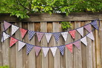 birthdey party triangle baby shower banner