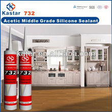 High grade fast cure acetic silicone sealant,door and window frame silicone sealant,Well-suited for bonding silicone sealant