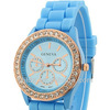 Casual fashion quartz diamond silicone colorful watch