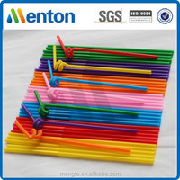 colorful plastic cocktail crazy art drinking straw