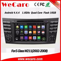 WECARO High Quality 2 Din Radio CD Navigation Dvd Gps Pure Android 4.4 Car Audio For Benz Mercedes E Class W211 2002 - 2008