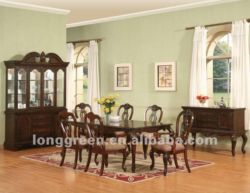 stile lungo in legno di ciliegio sala da pranzo tavoli-Tavolo in legno ...