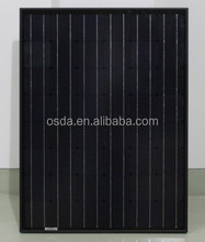 High quality 130w poly solar panel with black backsheet