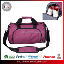 Nylon Outdoor Custom Duffle Bag with Shoe Compartment for Young People