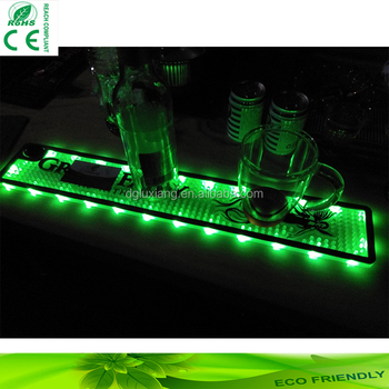 Customized Led Bar Mat With Lasted Lights Alternate With Flashed