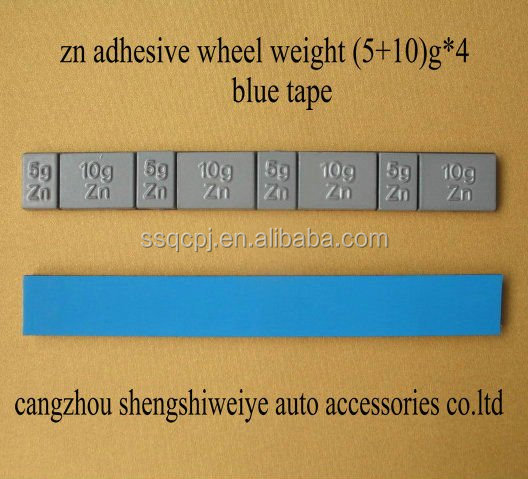zn plated stick on balance weight with Norton tape for auto