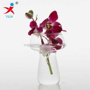 Creative type mushroom vase desktop/hanging flower vase Glass vase Fashionable household act the role ofing is tasted furnishing