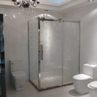 strong waterproof cheap shower enclosure without tray
