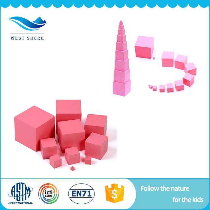 2018 New Wooden Educational Toys Best Selling Products For Kids Pink Tower