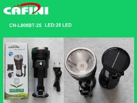 Plastic led rechargeable torch,solar power rechargeable led flashlight,24+1LED