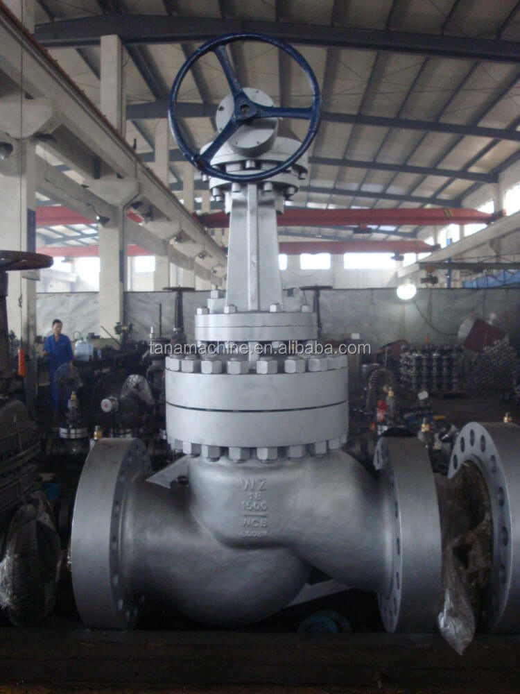 TANA API600 rising stem cast steel globe valve price drawing