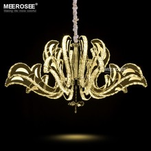 MEEROSEE Modern Luxury LED Crystal Chandelier Imported from China MD81271-L10