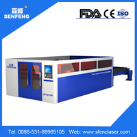 SF3015H fiber laser cutting machine big table 1500W full protection auto feeding
