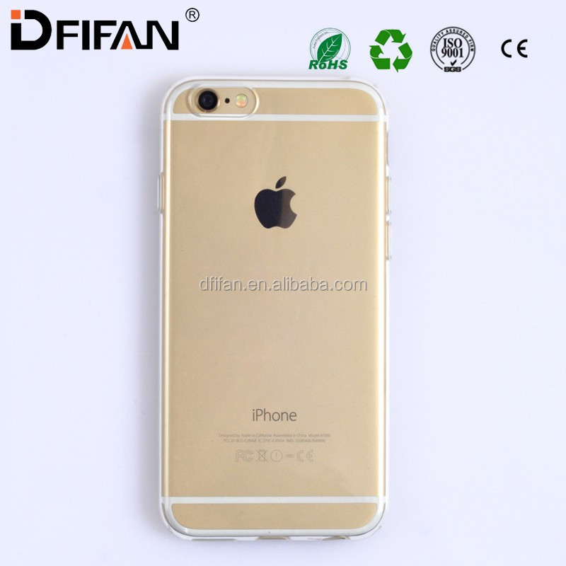 Customized case For iPhone 6 accept logo printing Transparent Crystal Clear for iphone 6s soft TPU back case