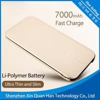New Products Unique Design Slim Portable Charger Power Bank/Rohs Power Bank 10000mah 2017