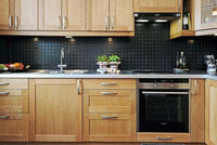 Solid Wood rubber wood Integrated Kitchen Cabinet/ kitchen furniture/ Foshan