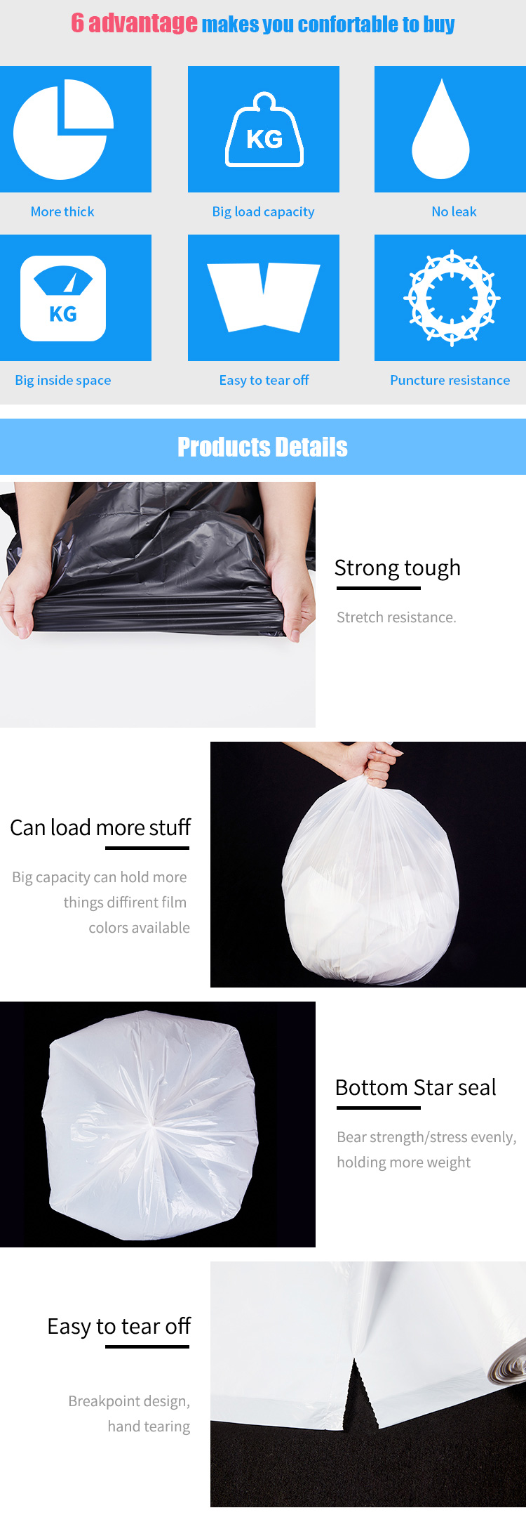 Black Polythene Bags Wholesale And 100% Compostable Kitchen Waste Biodegradable Dog Poop Bag Bpi