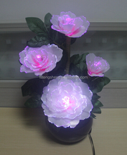 RGB full colour rechargeable led artifical flower with light