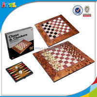 Hot Sale Educational toy Eco- friendly Playing Chess Intellect Wooden Chess Game