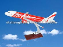 new!top quality! red air asia.com airplane model crafts a320