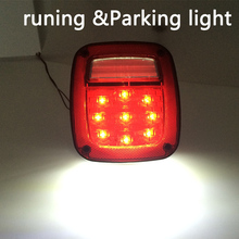 2pcs X Led Tail Lights For Jeep TJ Wrangler 1998 1999 2000 2001 2002 2003 2004 2005 2006 year