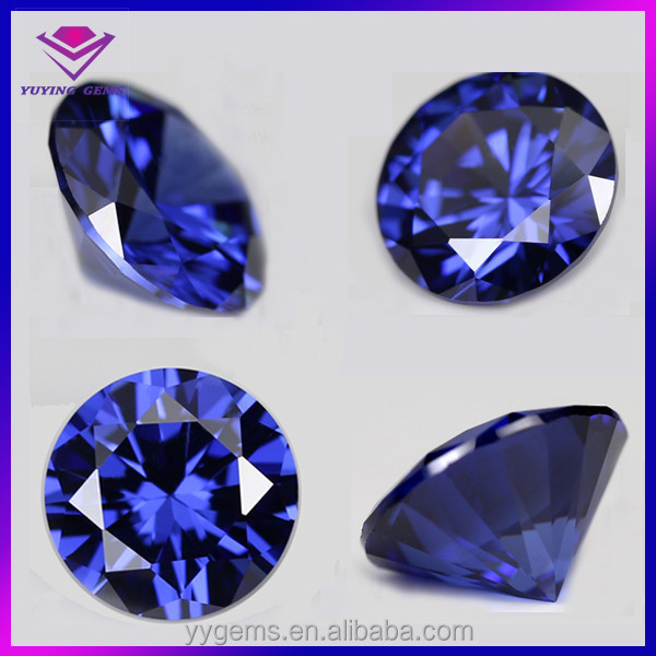 6mm round cz synthetic tanzanite loose stones sale
