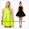 2014 New Arrival Factory price fashion candy color party prom cocktail short sleeveless sexy dresses girls Slim Fit cheap OEM